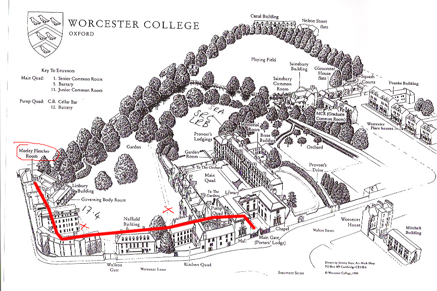 Directions to the Morley-Fletcher Room